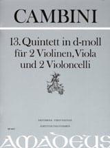 Giuseppe Maria Cambini - Quintet Nr. 13 In D Min. - Sheet Music - di-arezzo.com