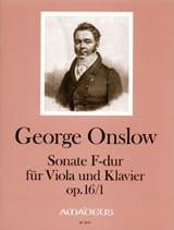 Sonate Op.16 N°1 En Fa Maj. Georges Onslow Partition laflutedepan