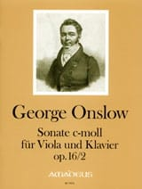 Georges Onslow - Sonate, opus 16 N° 2 en do min. - Partition - di-arezzo.fr