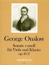 Georges Onslow - ソナタ、op。16 N°2 in C min。 - 楽譜 - di-arezzo.jp