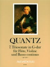 Johann Joachim Quantz - Sonata Trio No. 7 In Sol Maj. QV2: 29 - Sheet Music - di-arezzo.com