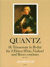 Johann Joachim Quantz - Sonata Trio No. 18 In Bb Shift. QV2: 42 - Sheet Music - di-arezzo.com