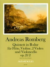 Andreas J. Romberg - Opus 21 quintet N ° 2 In Bb Shift. - Sheet Music - di-arezzo.com