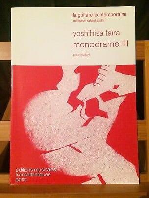 Yoshihisa Taira - Monodrame 3 - Partition - di-arezzo.fr