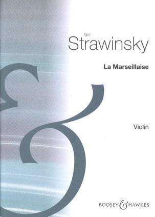 Igor Stravinsky - The Marseillaise - Sheet Music - di-arezzo.co.uk