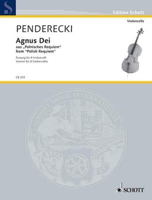 Agnus Dei - Krzysztof Penderecki - Partition - laflutedepan.com