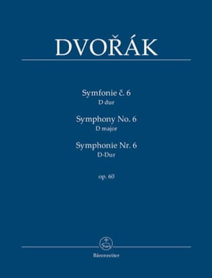 DVORAK - Symphony Nr. 6 - Partitur - Sheet Music - di-arezzo.co.uk