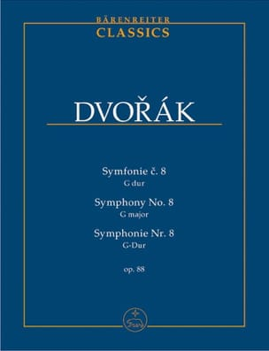 DVORAK - Symphony Nr. 8 - Partitur - Sheet Music - di-arezzo.co.uk