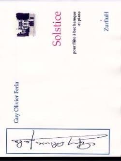 Solstice - Guy-Olivier Ferla - Partition - laflutedepan.com