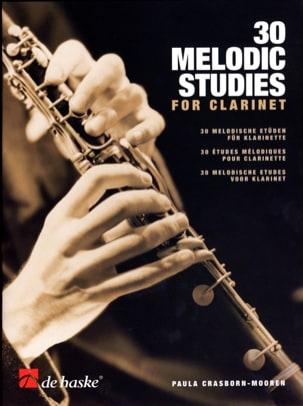 30 Melodic Studies For Clarinet Paula Crasborn-Mooren laflutedepan