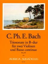 Carl Philipp Emanuel Bach - Triosonate in B major Wq 158 - Sheet Music - di-arezzo.com