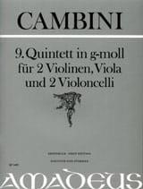 Quintette Nr. 9 En Sol Min. Giuseppe Maria Cambini laflutedepan
