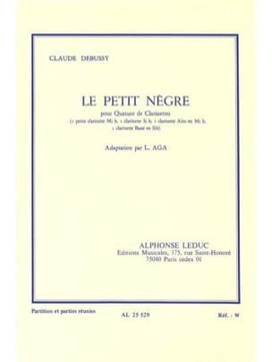Le petit nègre - quatuor clarinettes DEBUSSY Partition laflutedepan