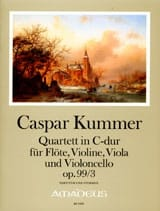 Gaspard Kummer - Quartett in C-Dur op. 99/3 -Partitur + Stimmen - Partition - di-arezzo.fr
