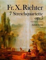 Franz Xaver Richter - 7 Streichquartette Op. 5 - Partition - di-arezzo.fr