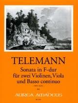 Georg Philipp Telemann - Sonate En Fa Maj. Twv43 : F4 - Partition - di-arezzo.fr