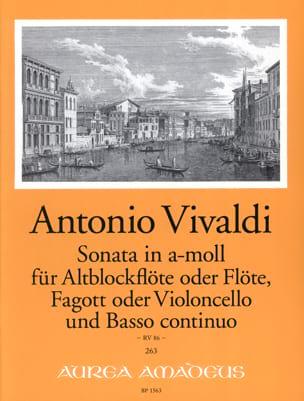 Antonio Vivaldi - Sonate en la mineur - Rv 86 - Partition - di-arezzo.fr