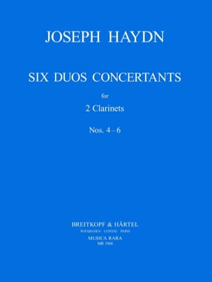 Joseph Haydn - Six Duos Concertants N° 4-6 - 2 Clarinets - Partition - di-arezzo.fr