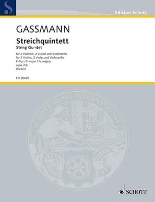 Florian Leopold Gassmann - Quintette A Cordes Op.2 N°6 - Partition - di-arezzo.fr