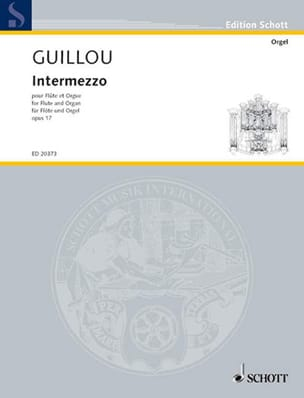 Intermezzo Opus 17 Jean Guillou Partition laflutedepan