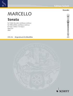 Sonate En Sib Maj. Op.2 N° 7 - Benedetto Marcello - laflutedepan.com
