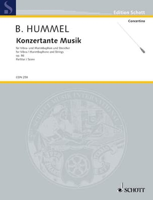 Bertold Hummel - Konzertante Musik op. 86 - Partitur - Partition - di-arezzo.fr