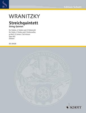 Wranitzky - Quintette Op.8 N ° 2 In Sol Min. - Sheet Music - di-arezzo.co.uk