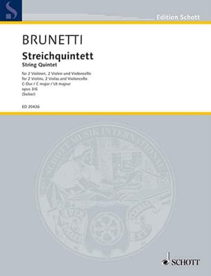Gaetano Brunetti - String Quintet Op.3 No. 6 In Ut Maj. - Sheet Music - di-arezzo.com