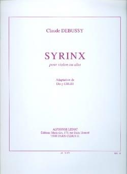 Syrinx DEBUSSY Partition Violon - laflutedepan