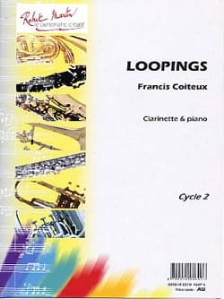 Loopings - Francis Coiteux - Partition - Clarinette - laflutedepan.com