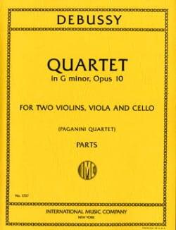 DEBUSSY - Quatuor Opus 10 En Sol Mineur - Partition - di-arezzo.fr