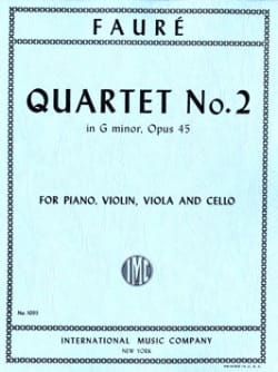 Gabriel Fauré - Quartet With Piano N ° 2 Opus 45 In G Minor - Sheet Music - di-arezzo.com