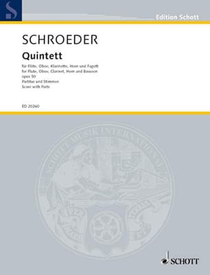 Quintette Op.50 - Hermann Schroeder - Partition - laflutedepan.com