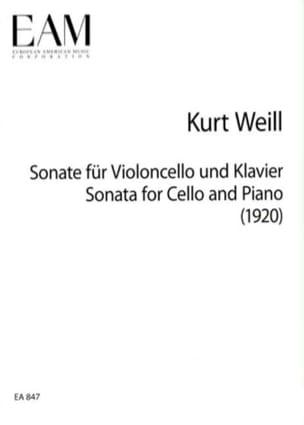 Sonate Violoncelle & Piano 1920 WEILL Partition laflutedepan