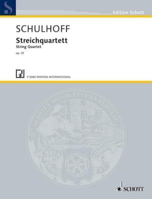 Quatuor A Cordes Op.25 Erwin Schulhoff Partition laflutedepan