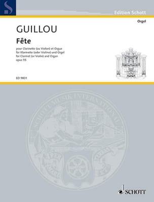 Fête Op.55 - Jean Guillou - Partition - Clarinette - laflutedepan.com
