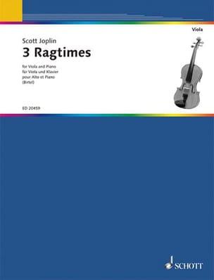 Scott Joplin - 3 Ragtimes – Alto - Partition - di-arezzo.fr