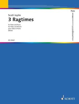 3 Ragtimes - Scott Joplin - Partition - laflutedepan.com