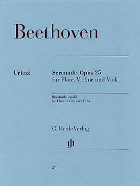 BEETHOVEN - Serenade Op.25 - Sheet Music - di-arezzo.co.uk