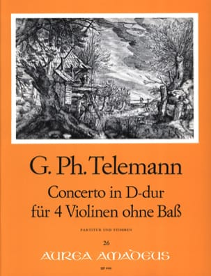 TELEMANN - Konzert D-Dur For 4 Violinen Twv 40: 202 - Sheet Music - di-arezzo.co.uk