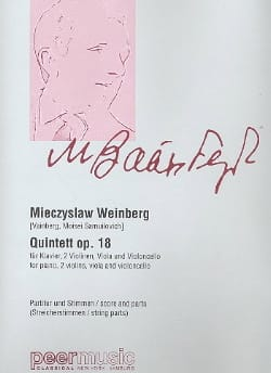 Mieczyslaw Weinberg - Quintette Opus 18 - Partition - di-arezzo.fr