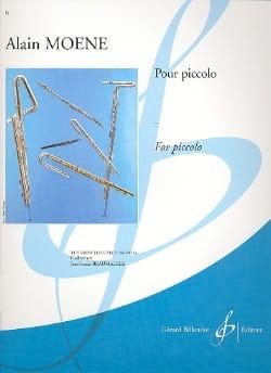 Pour Piccolo - Alain Moene - Partition - laflutedepan.com