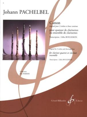 Canon PACHELBEL Partition Clarinette - laflutedepan