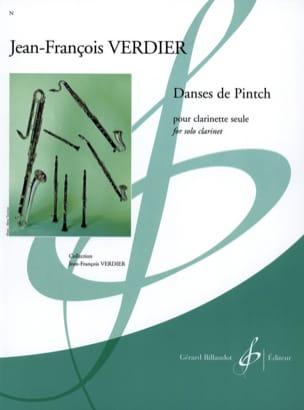 Danses de Pintch Jean-François Verdier Partition laflutedepan