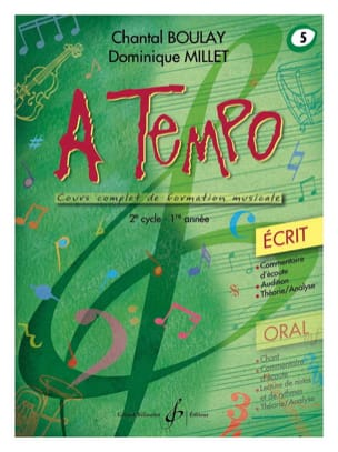 Chantal BOULAY et Dominique MILLET - A Tempo Volume 5 - Ecrit - Partitura - di-arezzo.it