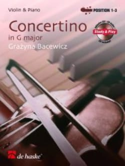Grazyna Bacewicz - Concertino en Sol Majeur - Partition - di-arezzo.fr