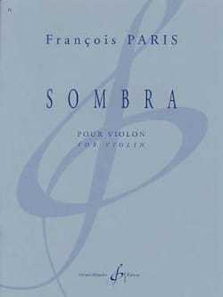 François Paris - Sombra - Sheet Music - di-arezzo.com