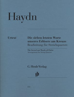 HAYDN - The last seven words of our Redeemer on the cross - Sheet Music - di-arezzo.co.uk