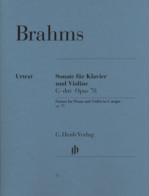 BRAHMS - Sonata for violin in G major op. 78 - Sheet Music - di-arezzo.co.uk