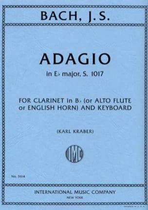 Adagio En Mib Maj. - S.1017 BACH Partition Clarinette - laflutedepan